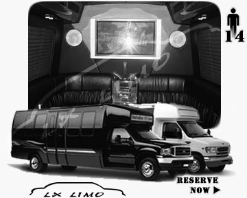 Party Limo Bus rental in Honolulu | Honolulu LIMOBUS 14 passengers